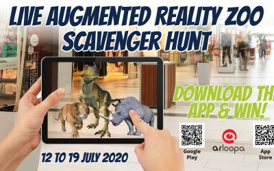 Live Augmented Reality Zoo Scavenger Hunt